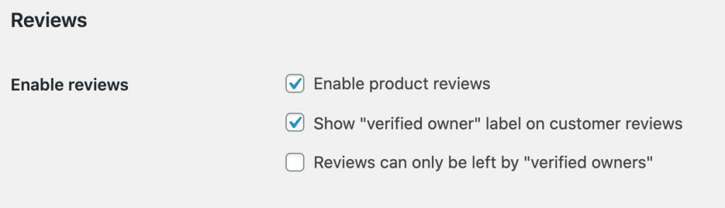 How to enable product reviews in WooCommerce