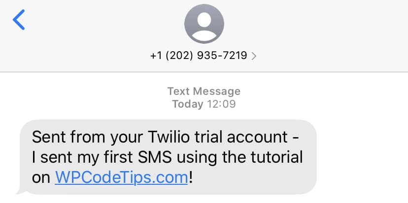 Twilio WooCommerce Test SMS